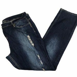 Suko Distressed Destroyed Straight Denim Jeans